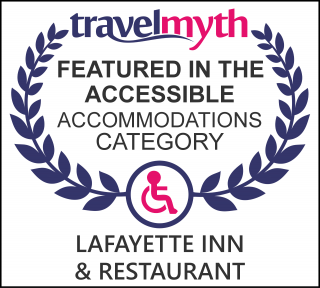 Travel Myth Featured in the Accessible Accommodations Category Lafayette Inn & Restaurant