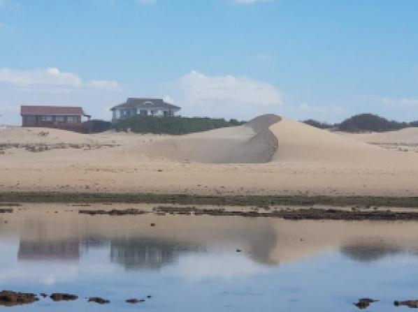 Beached House on Golden Sanddunes