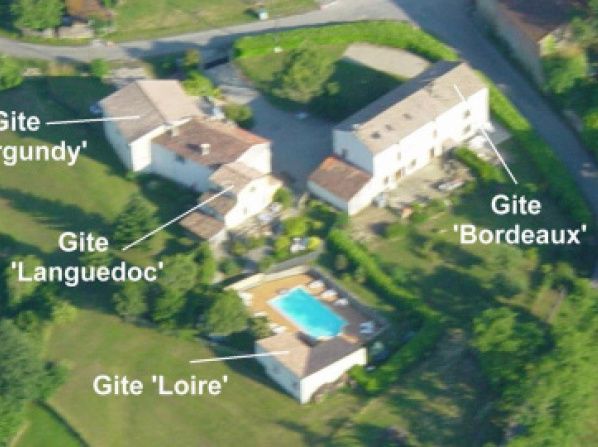 Gite complex near Mirepoix in the Pyrenees