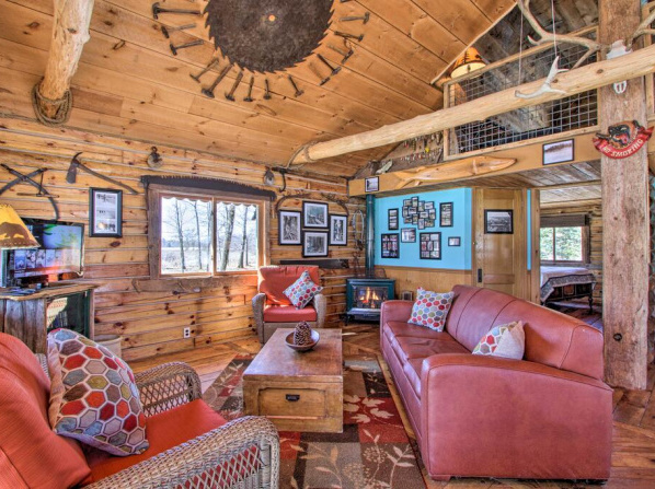 Cabin with Private Island Less Than 6 Miles to Sand Valley!